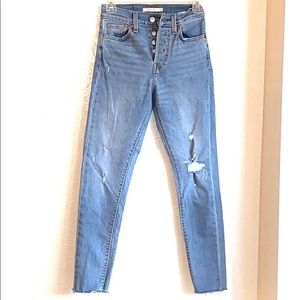 Levis redone Wedgie Skinny Jeans Button Fly